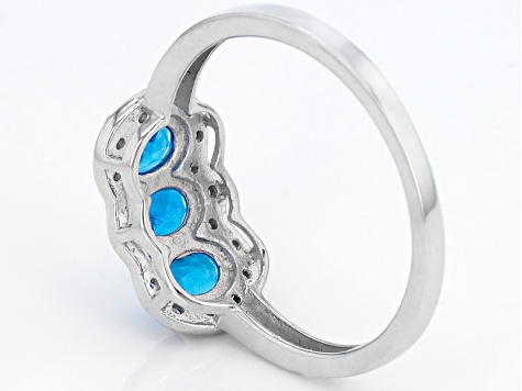 Neon Blue Apatite Sterling Silver Ring 1.10ctw