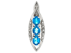 Neon Blue Apatite Sterling Silver Pendant .99ctw