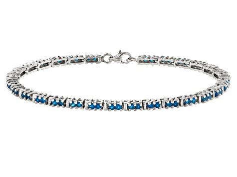 Neon-apatite Bracelet silver Vegoldet