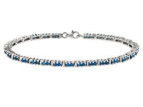 Neon Blue Apatite Sterling Silver Bracelet 2.36ctw