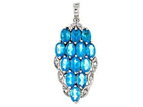 Neon Blue Apatite Sterling Silver Pendant