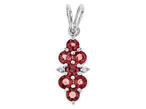 Red Winza Sapphire Sterling Silver Pendant 1.12ctw