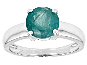 Green Grandidierite Rhodium Over Silver Ring 1.95ctw