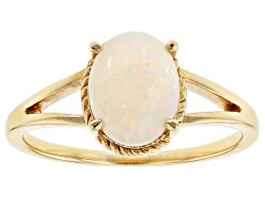 Australian Opal 18K Gold Over Silver Ring .85ct