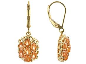 Mandarin Garnet 18K Yellow Gold Over Silver Earrings 2.50ctw