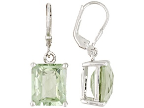 Prasiolite Sterling Silver Earrings 8.00ctw