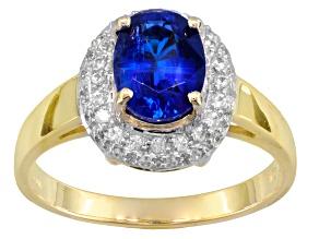 Blue Kyanite 10k Yellow Gold Ring 1.55ctw.