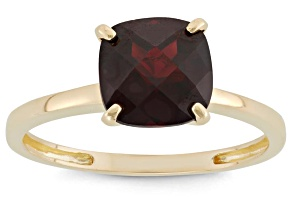 Garnet 10kt Yellow Gold Solitaire Ring 2.04ct