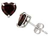 Garnet 10kt White Gold Stud Earrings 1.48ctw