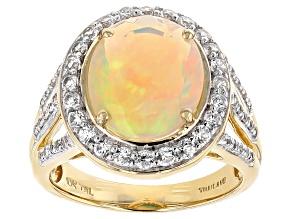 Ethiopian Opal 10k Yellow Gold Ring 3.10ctw