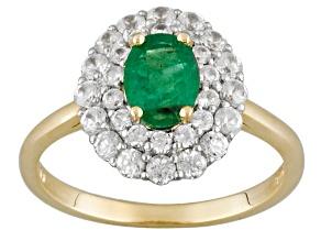Green Emerald 10k Yellow Gold Ring 1.48ctw