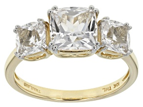 White Danburite 10k Yellow Gold Ring 2.60ctw