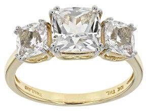 White Danburite 10k Yellow Gold Ring 2.60ctw