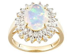 Ethiopian Opal 10k Yellow Gold Ring 2.43ctw