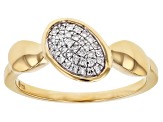 White Diamond Accent 14k Yellow Gold Over Sterling Silver Cluster Ring