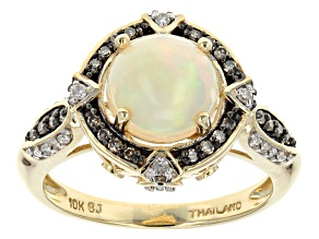 Ethiopian Opal 10k Yellow Gold Ring 1.34ctw.