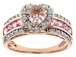 Pink Morganite 10k Rose Gold Ring 1.40ctw.