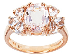 Pink Morganite 10k Rose Gold Ring 1.99ctw.