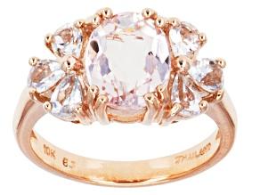 Pink Morganite 10k Rose Gold Ring 1.99ctw.