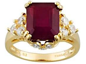 Mahaleo Ruby 10k Yellow Gold Ring 5.15ctw.