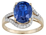 Blue Kyanite 10k Yellow Gold Ring 2.85ctw