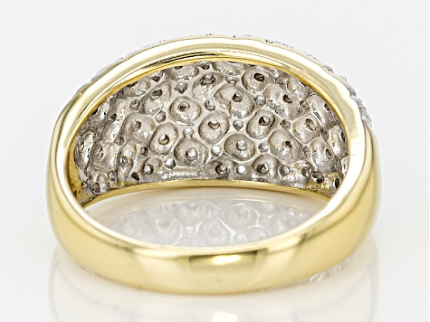 14k Yellow Gold Over Sterling Silver Diamond Ring .12ctw