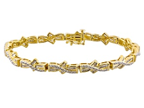 Diamond Rhodium Over Sterling Silver Bracelet 1.33ctw