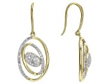 Diamond 14k Yellow Gold Over Sterling Silver Earrings .49ctw