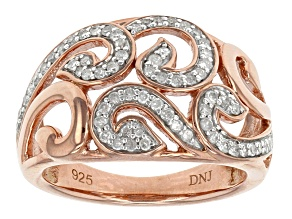 Diamond 14k Rose Gold Over Sterling Silver Ring .33ctw