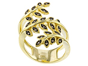 Champagne Diamond 14k Yellow Gold Over Sterling Silver Ring .20ctw
