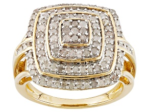Diamond 14k Yellow Gold Over Sterling Silver Ring 1.00ctw