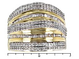 Diamond 14k Yellow Gold Over Sterling Silver Ring .75ctw