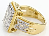 Diamond 14k Yellow Gold Over Sterling Silver Ring 1.30ctw
