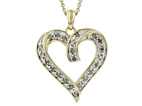 Diamond 14k Yellow Gold Over Sterling Silver Pendant .25ctw