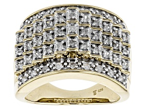 Diamond 14k Yellow Gold Over Sterling Silver Ring .50ctw
