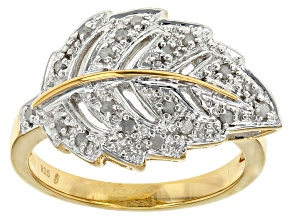 Diamond 14k Yellow Gold Over Sterling Silver Ring
