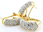 White Diamond 14k Yellow Gold Over Sterling Silver Jewelry Set 1.85ctw