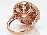 White Diamond 14k Rose Gold Over Sterling Silver Ring 1.50ctw