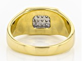 White Diamond 14k Yellow Gold Over Sterling Silver Gents Ring .25ctw
