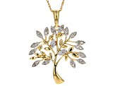 White Diamond 14 Yellow Gold Over Sterling Silver Pendant .20ctw