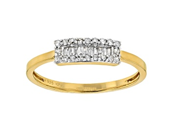 Picture of White Diamond 14k Yellow Gold Over Sterling Silver Band Ring .20ctw