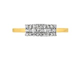 White Diamond 14k Yellow Gold Over Sterling Silver Band Ring .20ctw