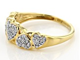 White Diamond 14k Yellow Gold over Sterling Silver Ring .25ctw