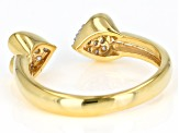 Engild™ White Diamond 14k Yellow Gold Over Sterling Silver Ring 0.30ctw