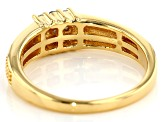 White Diamond 14K Yellow Gold Over Sterling Silver Mens Cluster Ring .26ctw