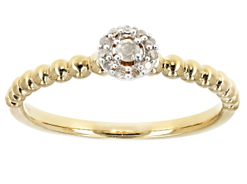 Picture of White Diamond Accent14K Yellow Gold Over Sterling Silver Ring