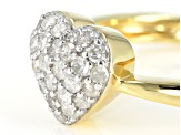 White Diamond 14K Yellow Gold Over Sterling Silver Ring 0.40ctw