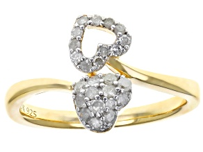 White Diamond 14K Yellow Gold Over Sterling Silver Ring 0.28ctw
