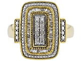 White Diamond 14K Yellow Gold Over Sterling Silver Ring 0.50ctw