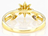 White Diamond 14k Yellow Gold Over Sterling Silver Ring 0.10ctw